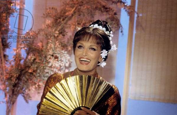 Singer Dalida during TV Programme on October 24, 1979 (photo)