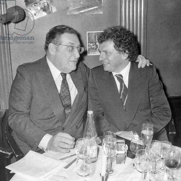 Leon Zitrone et Jacques Martin (b/w photo)