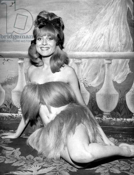 Bikini With Hair By Luc Traineau 1966 (b/w photo)