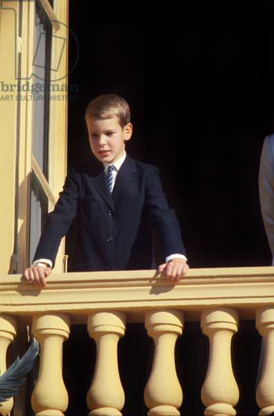 Young Child Prince Albert De Monaco (B1958, Future Albert Ii) at The Balcony of The Castle, C. 1968 (photo)