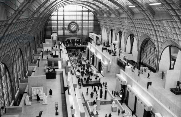 Opening of Orsay Museum in Paris, December 9Th, 1986. Orsay Station Is The Former Station of The Compagnie Du Chemin De Fer D'Orleans, Paris. Designed By French Architect Victor Laloux (1850-1937). (b/w photo)