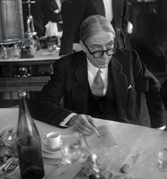150 years of the death of Beaumarchais, Paris, May 18, 1949 : French lawyer and writer Maurice Garcon (b/w photo)