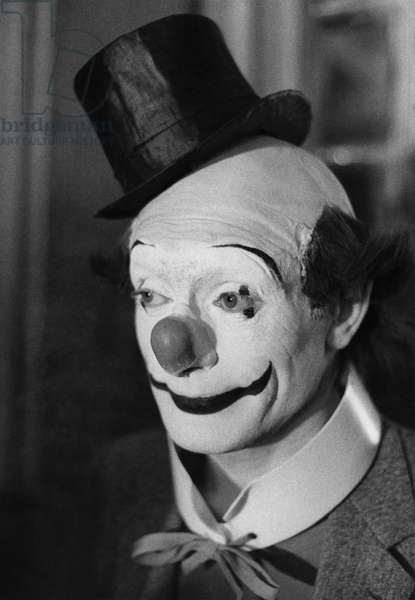 Le Jour Ou Le Clown Pleura The Day The Clown Cried De Jerrylewis Avec Pierre Etaix 1972 (b/w photo)