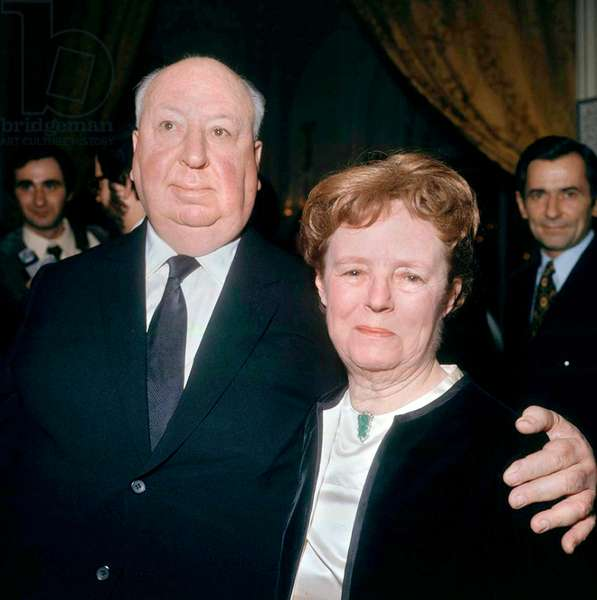 Alfred Hitchcock and his Wife Alma Reville 1971 (photo)