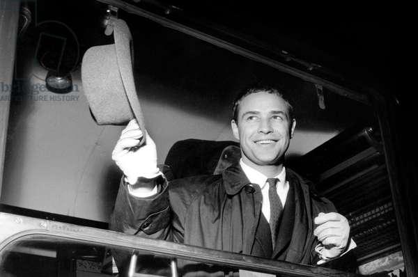 Marlon Brando November 22, 1954  (b/w photo)