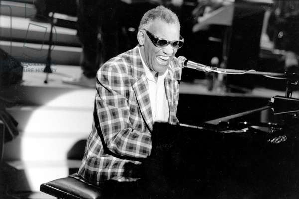 Ray Charles at The Piano during French TV Programme March 29, 1982