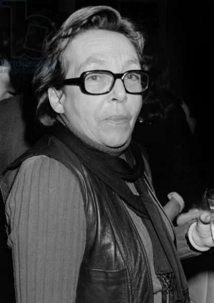French Writer Marguerite Duras on February 8, 1977 (b/w photo)
