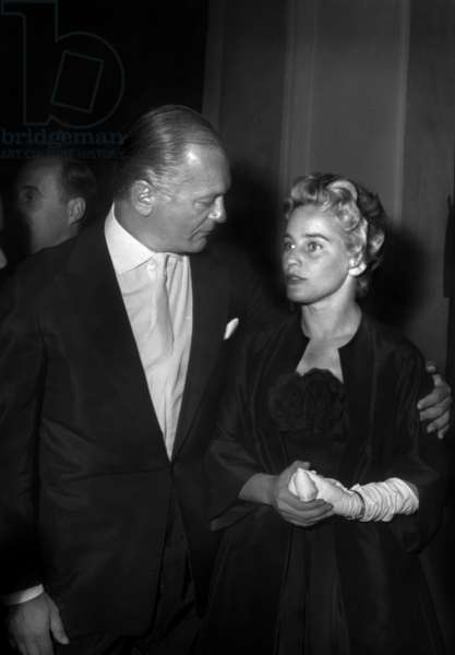 Curd Jurgens and Maria Shell on May 8, 1957 (b/w photo)