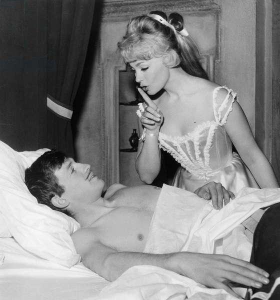 Les Amours Celebres De Michelboisrond Avec Jean Paul Belmondo Et Dany Robin Le 27 Fevrier 1961 Neg:B14466 (b/w photo)