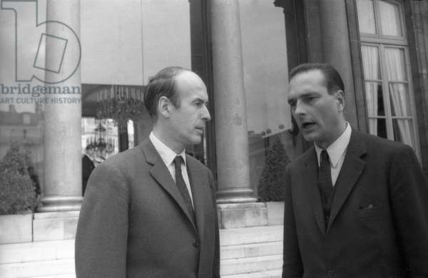 Valery Giscard d'Estaing and Jacques Chirac