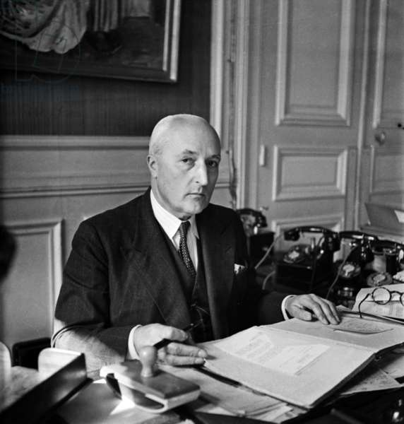 Marcel De Coppet, French Colonial Administrator, March 1946 (b/w photo)