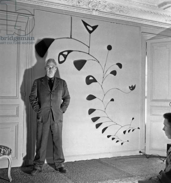 Alexander Calder (1898-1976) American Sculptor in October 1946