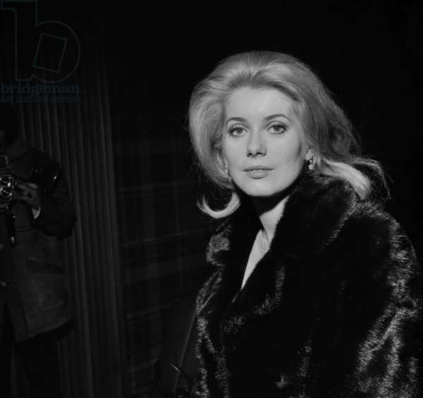 French Actress Catherine Deneuve at Presentation of Film