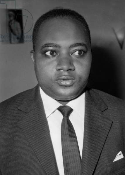 Mr Ngendandumwe Prime Minister of Burundi During His Exposition Expressing Trust to See a fruitful Collaboration Between France and His Country On February 17, 1964 (b/w photo)