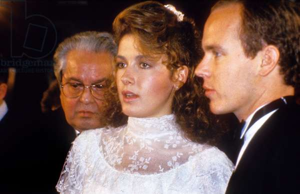 Deborah Moore and Prince Albert (Future Albert Ii) of Monaco June 14, 1985 (photo)