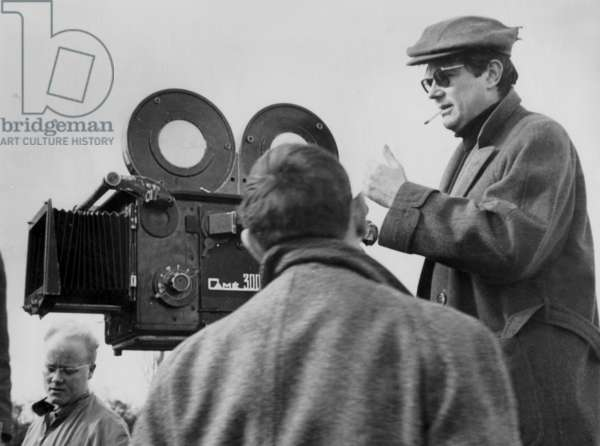 Director Norbert Carbonnaux on Set of Film