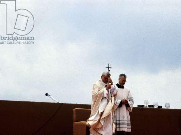 Pope John Paul Ii Celebrating Mass at Le Bourget, Near Paris, June 1St, 1980 (photo)
