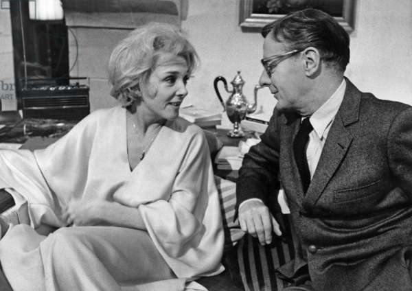 Micheline Presle and Jacques Francois on Set of Film