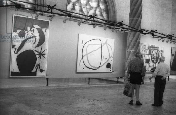 Retrospective of Joan Miro's work for his 85th birthday in Palma de Mallorca, September 11, 1978