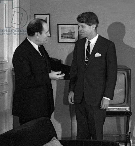 Francois Mitterrand et Robert Kennedy