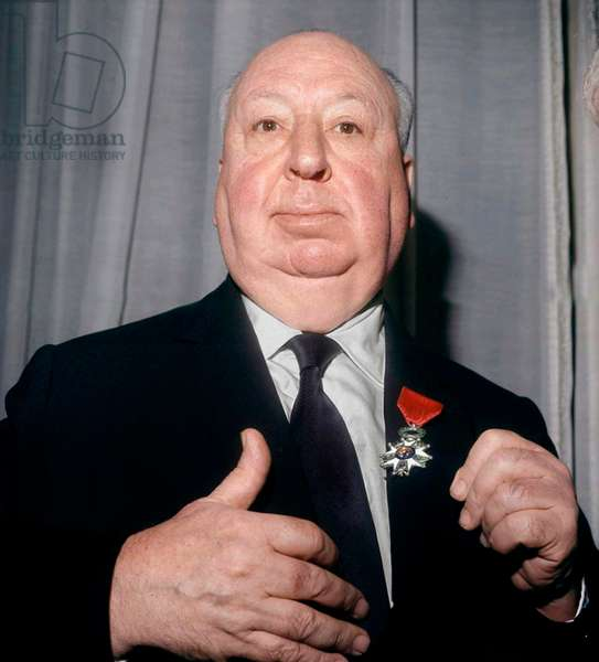 Henrilanglois General Secretary of French Film Archive Is Giving To Alfred Hitchcock The Medal of Chevalier of The Legion of Honour on January 15, 1971 (photo)