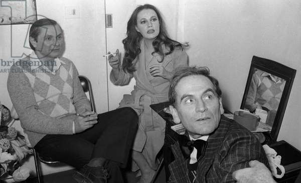 Claude Regy, Jeanne Moreau and Pierre Cardin