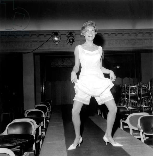 Underwear Fashion Show at George V Hotel in Paris : Panties (b/w photo)
