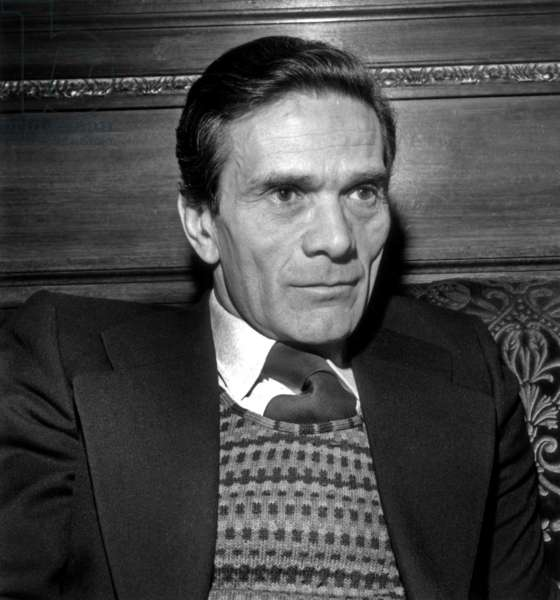 Director Pier Paolo Pasolini Receiving Movie Prize February 22, 1972 (b/w photo)