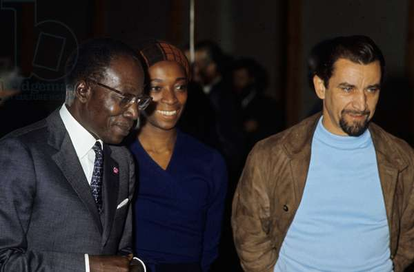 Leopold Sedar Senghor, Diana Gray Culler and Maurice Bejart October 23, 1970 (photo)
