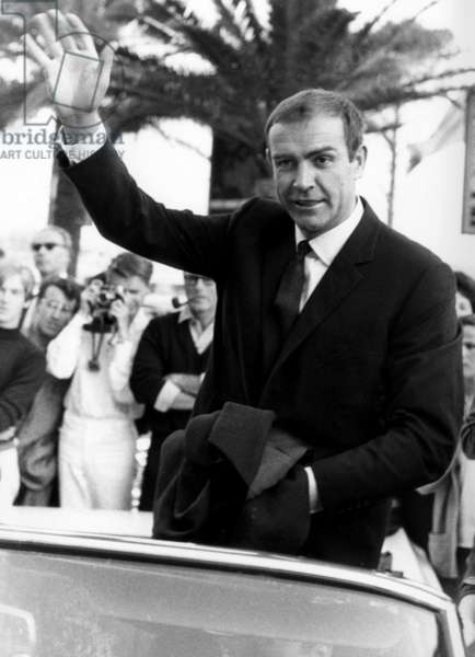 Cannes Film Festival : Sean Connery, in 1965 (b/w photo)