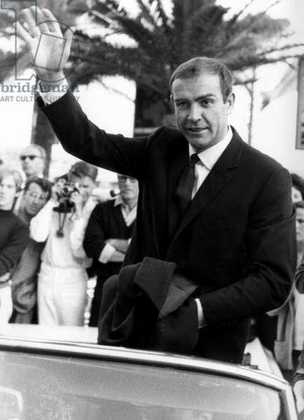 Cannes Film Festival : Sean Connery, in 1965 (b/w photo)