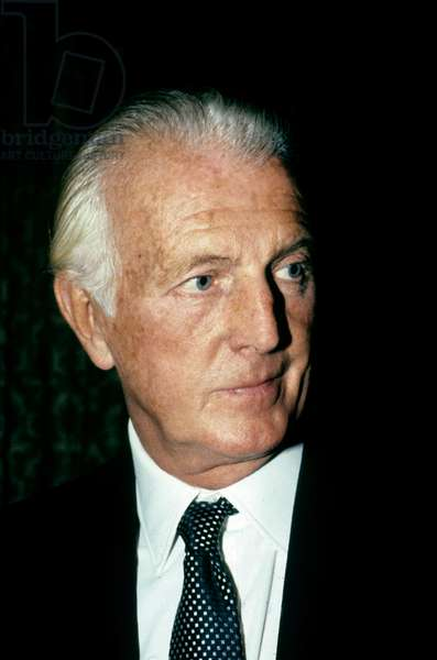 Hubert De Givenchy, French Couturier in Paris October 1985 (photo)