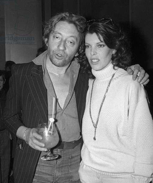 Serge Gainsbourg And Dani On Radio Paris Sur Rmc On 2 January 1978 (b/w photo)