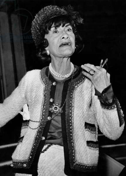 Coco Chanel, 31 juillet 1963 (photo b/s)