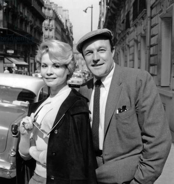 "Noelle Adam and Gene Kelly To Talk About Project of Film ""Love in Paris"" April 23, 1958 (b/w photo)"
