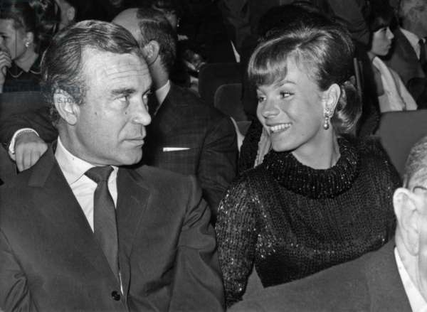 Porfirio Rubirosa (1909-1965) Italian Diplomat and Playboy, and his Wife Odile Robin during Concert of Sammy Davis Jr (b/w photo)