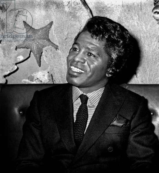 Singer James Brown September 19, 1967 (b/w photo)