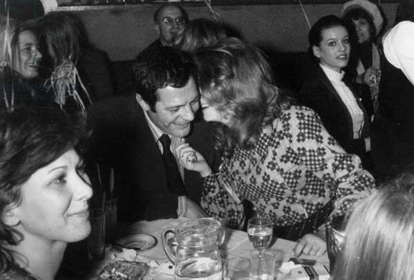 Marcello Mastroianni and Catherine Deneuve at the Alcazar in Paris, 26 Februrary 1971 (photo)