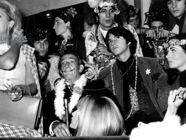 Spanish Painter Salvador Dali at a Party, Paris, 12 November 1967 (photo)