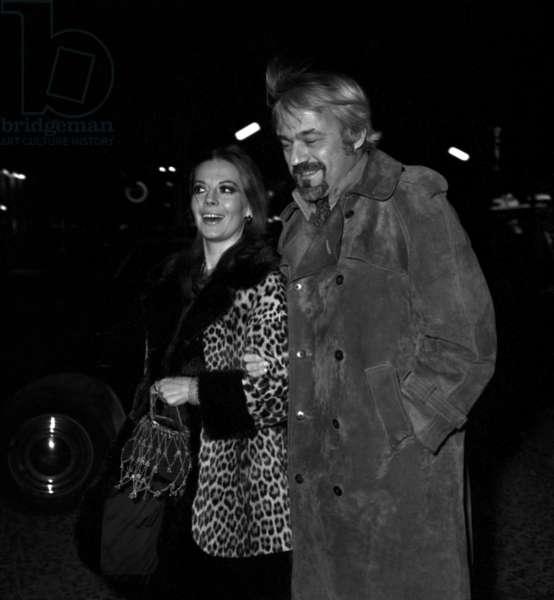 Natalie Wood and her second husband Richard Gregson, Paris, 7 January 1970 (photo)