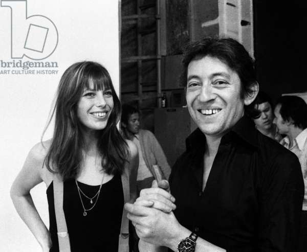 Jane Birkin et Serge Gainsbourg sur le plateau de l'émission « Melody Nelson » 11 septembre 1971 (photo)