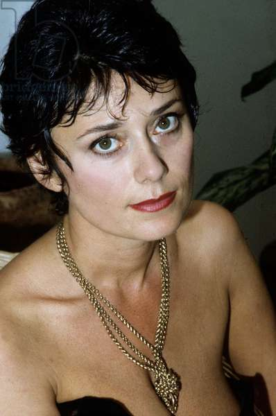 Marie Helene Breillat (French Actress and Writer) at home, 1976 (photo)