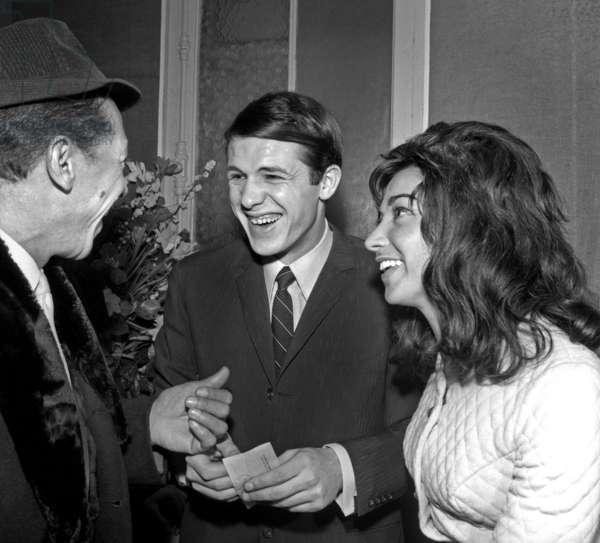 Henri Salvador and Salvatore Adamo during the Premiere of Dalida at Bobino, Paris, 3 February 1965 (photo)