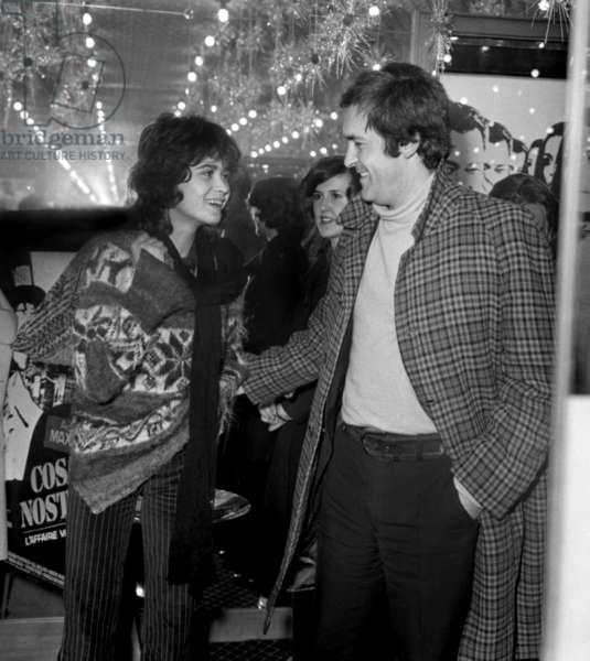 Maria Schneider and Bernardo Bertolucci at the Premiere of the film