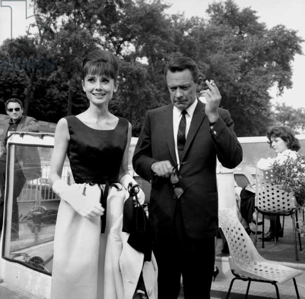 "Actors Audrey Hepburn and William Holden on the set of the film ""Paris When It Sizzles"", Paris, 13 July 1962 (photo)"
