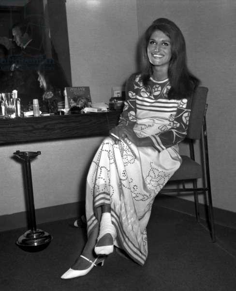 "Singer Dalida for the TV Programme ""Le palmares des chansons"", 8 June 1967 (photo)"