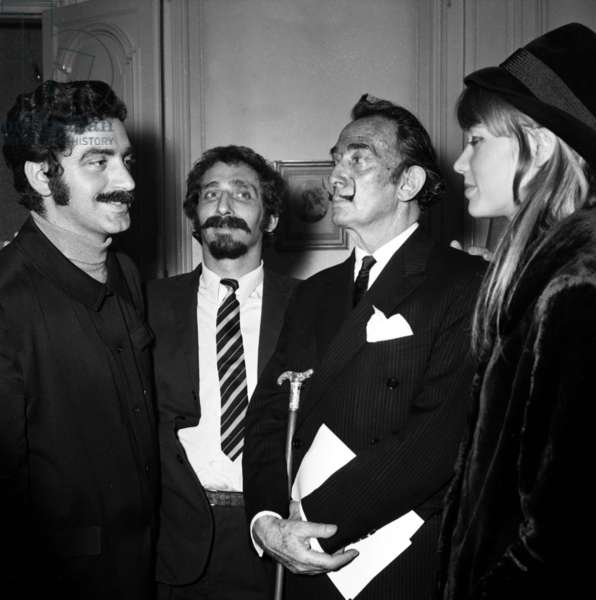 Paco Rabanne, Salvador Dali and Francoise Hardy during the Programme