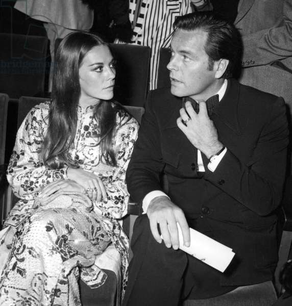Natalie Wood and Robert Wagner at concert of SylvieVartan at the Olympia, Paris, 18 September  1972 (photo)