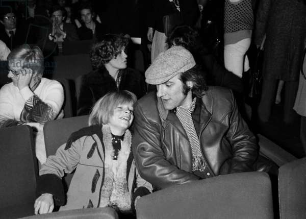 Gerard Depardieu and his son Guillaume at Eddy Mitchell's Concert at the Olympia in Paris, 7 February 1979 (photo)