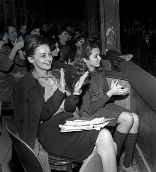 Carine Reggiani at the Premiere of her father Serge Reggiani, Theatre Gerard Philipe, St Denis, France, 31 January 1965 (photo)